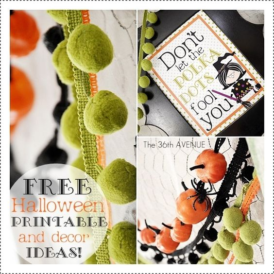 Free Halloween Printable and Decor Idea by the36thavenue.com: Decor Ideas, Fall Halloween Ideas, Holidays Halloween, Holidays Hallows, Halloween Printable, Witch Printable, Craft Ideas, Free Printables