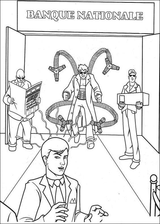 Spiderman Målarbilder för barn. Teckningar online till skriv ut. Nº 29