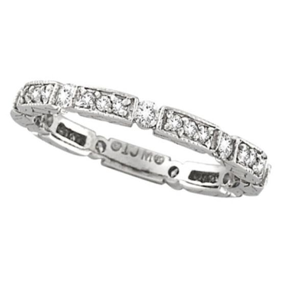 Diamond Anniversary Band 14k White Gold by Morris & by Allurez, $708.75