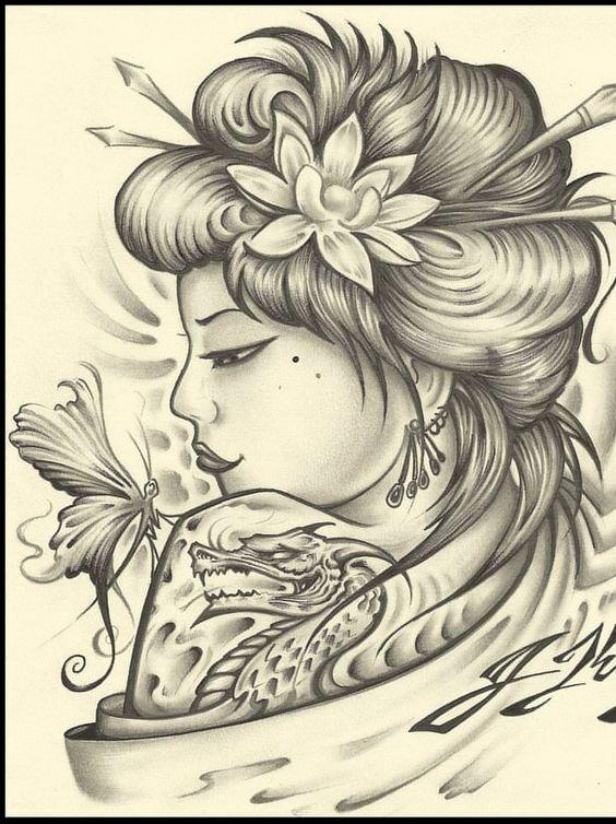 : La Geisha es uno de los iconos de la cultura milenaria del Japón;son el icono por excelencia de la femineidad, el encanto y el misterio.