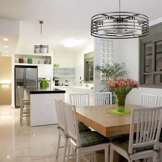 L mpara techo cell 2 redonda wengu 3 luces 6 luces for Lamparas de cocina