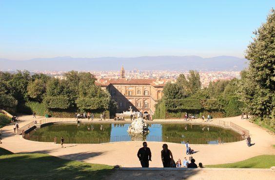 Neptune's Fountain & Pitti Palace - Boboli Gardens, Florence