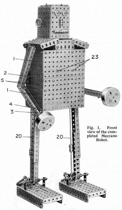 Meccano robot 31 x640 Early Meccano Robot Models   Frank Hornby et al (British)