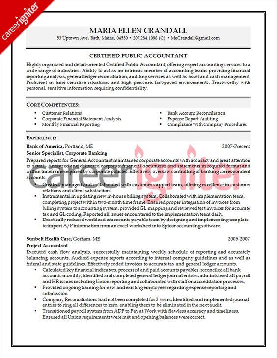 Senior Accountant Resume - http://www.resumecareer.info/senior ...