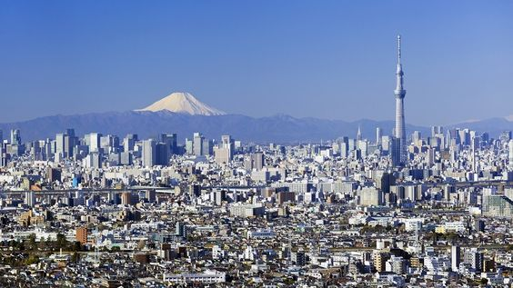 Mt Fuji from downtown Tokyo