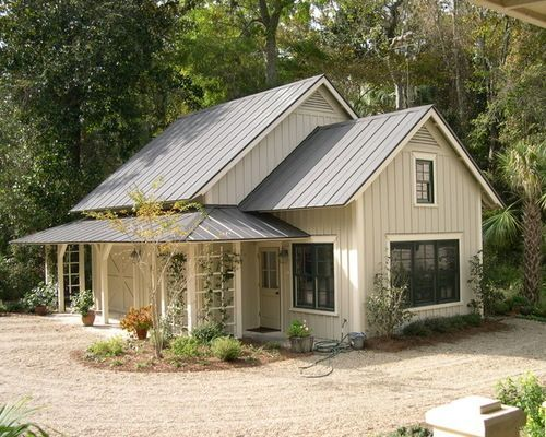 Charcoal Metal Roof Light Grey Taupe House Color Wood Door Metal Roof Houses Metal Building Homes Cottage House Exterior