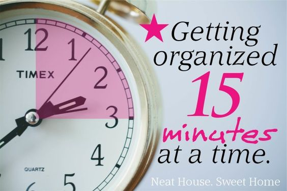 A little bit of something is better than a whole lot of nothing. Read how getting organized 15 minutes at a time helps to declutter your life.