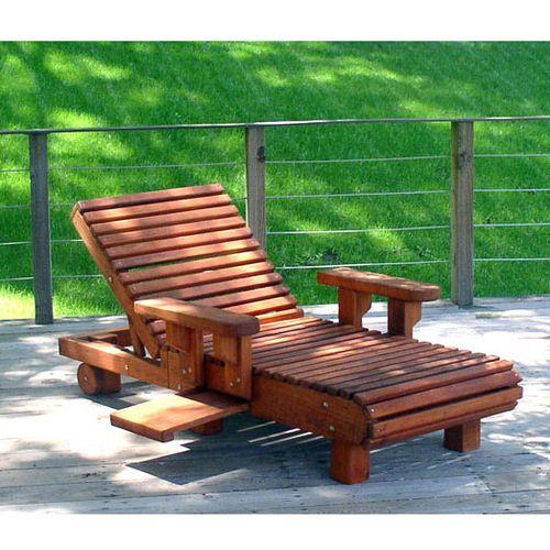 Holz Outdoor Lounge Stuhle Ergonomische Redwood Outdoor Mobel
