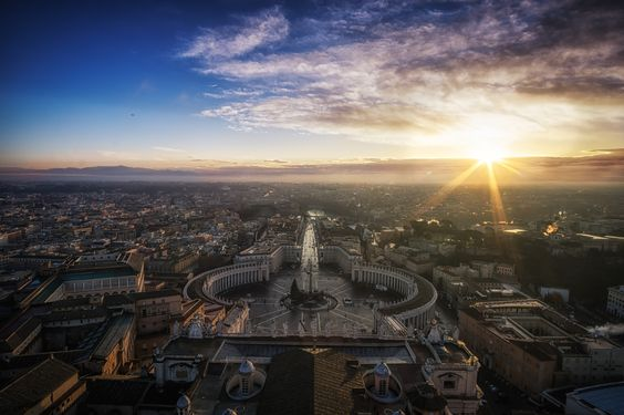 Sunrise on top of Saint Peter's Basilica in Rome, Italy.  Had to wake up super early for this but well worth the effort :) For more of my work visit:  FB Page  Website Google Plus Instagram