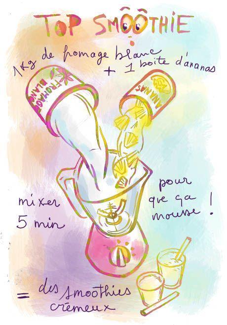 Smoothie ananas - Tambouille.fr