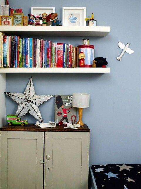 Mooie lichtblauwe muur