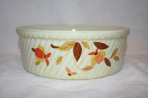 Hall's Superior Quality Kitchenware Casserole Dish Autumn Leaf Pattern | eBay