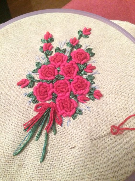 embroid rose