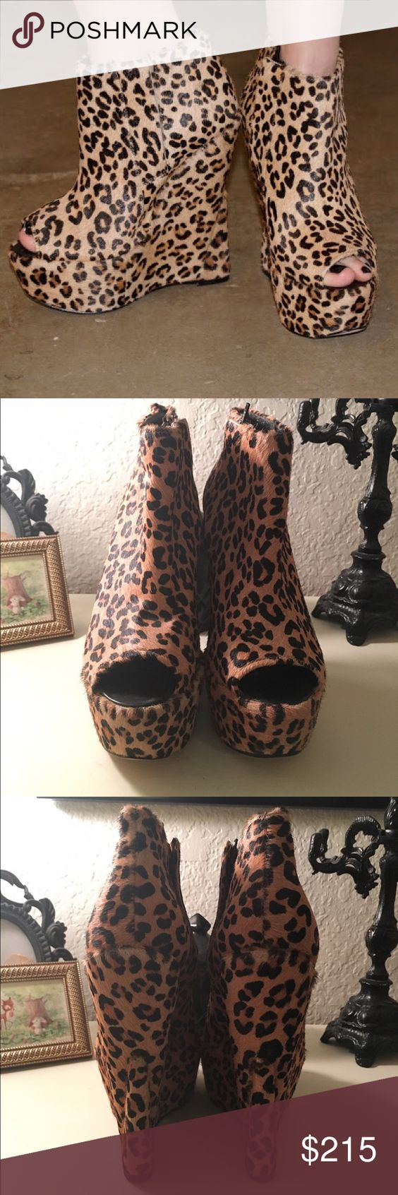 Topshop Ashish Leopard Print Wedge Beautiful leopard print wedge. Worn only a couple times. The color is exactly like the one in the cover photo (my room has bad lighting). EU 37/US 6.5/7  Please note: I do my best to describe each item exactly the way it is. I try to ship as fast as possible but if you buy an item on Friday, I won't be able to ship till Monday. 📦📬  Only reasonable offers are considered. Remember, poshmark takes 20% of all sales! 🛍☺️  No trades.  No modeling. Everything…
