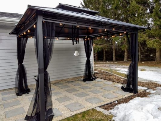Lakewood Hard Top Gazebo 10 X 12 Big Lots In 2020 Backyard Gazebo Gazebo Backyard Decor