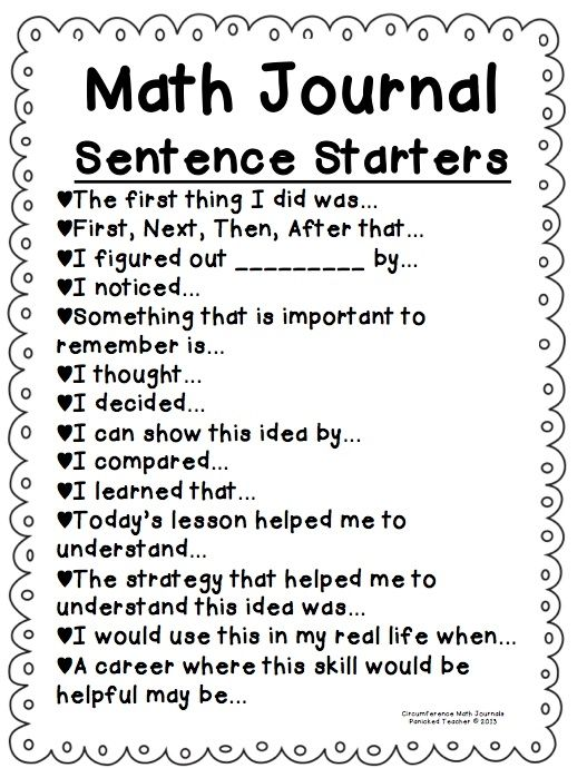 Report writing for maths