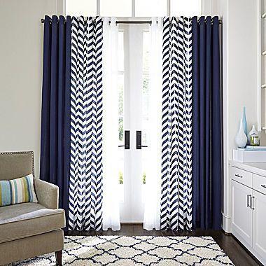 This In Skygazer Teal Jcp Jcpenney Home Cotton Classics Broken Chevron Grommet Top Curtain Pa Idees De Rideaux Deco Rideaux Salon Rideaux Bleu Et Blanc