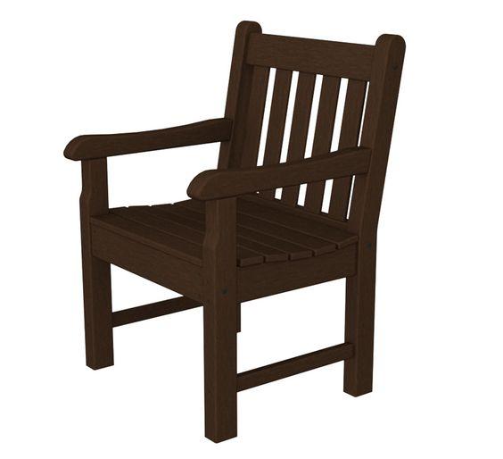 Polywood RKB24MA Rockford Garden Arm Chair in Mahogany
