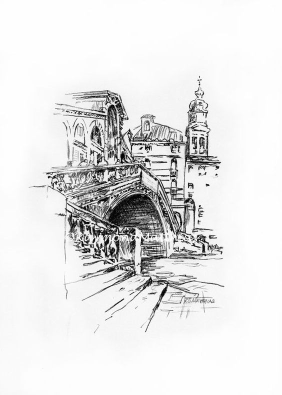 Line Drawing Venice : Ink drawings pen and venice on pinterest