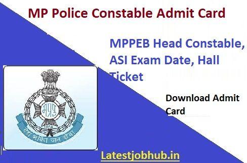 Mp Police Constable Admit Card 2020 Syllabus Exam Examination Board