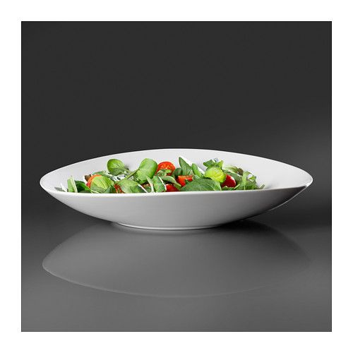 $19.99 SKYN Serving plate IKEA Made with fine china that is both thin and lightweight but strong and durable.