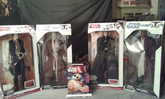 STAR WARS LOT. 4 ULTIMATE SCALE STAR WARS FIGUERS AND BB-8 DISNEY STAR WARS #LUCASFLIMSDIAMOND