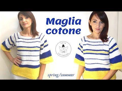 Maglia Cotone Uncinetto.Tutorial Maglia Cotone Uncinetto La Fata Tuttofare Youtube