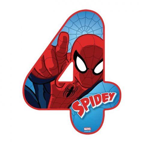 Spiderman Number 4 Edible Image Edible Images Spiderman Spiderman Birthday