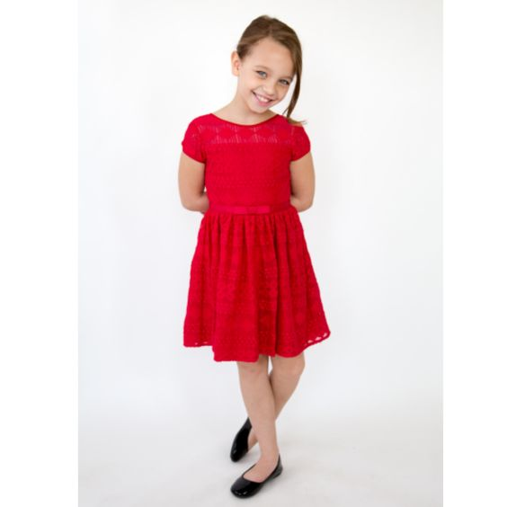 Garnet Lace Dress