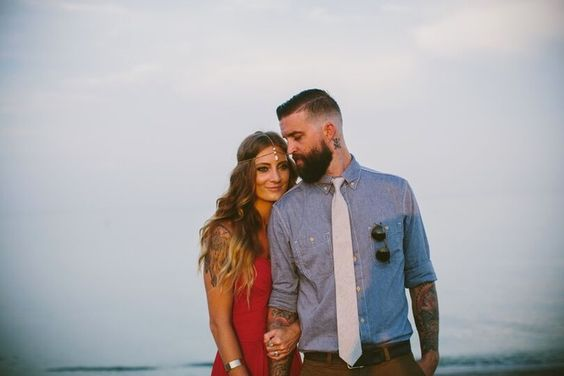Bright & Bold Bohemian  Engagement Shoot - Couple