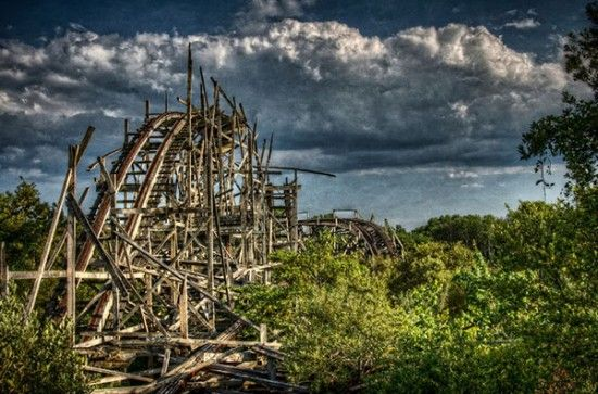 parc d'attractions abandonné - Dartmouth (Angleterre)