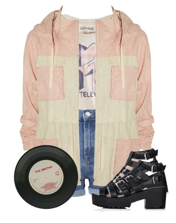 """pastel as fxck"" by mindlessforeva ❤ liked on Polyvore featuring American Eagle Outfitters, Topshop and Étoile Isabel Marant"