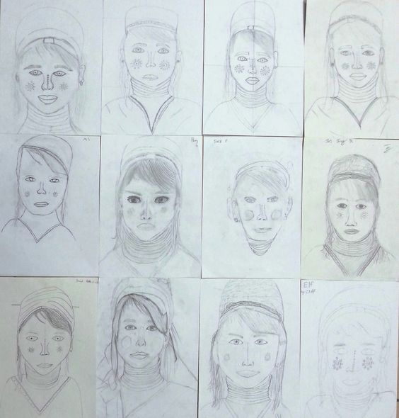 Year 9 - Pencil, line drawings