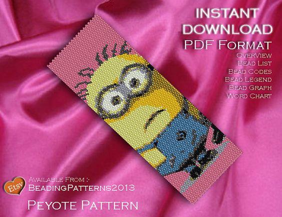 Peyote Pattern Beading Pattern Minion by BeadingPatterns2013