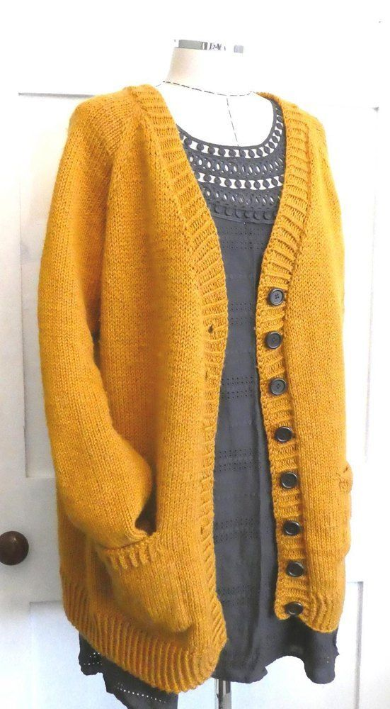 Paprika Mustard Classic Knitted Cardigan Jacket | Stricken