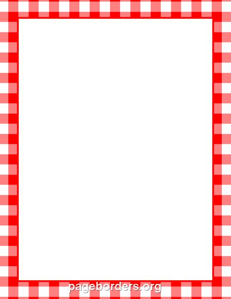 The gallery for --> Red Gingham Border