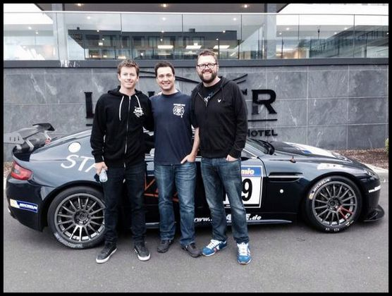 <3 Top Gear USA: The guys have been spotted in Germany: http://histv.co/1ivAU2A