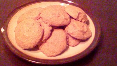 One of my fave late-night snacks! From-scratch almond & spelt cookie recipe.