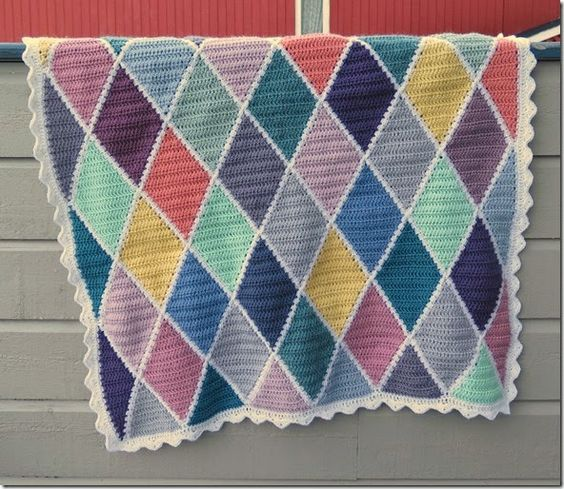 Free Crochet Harlequin Blanket Pattern : Solveigs harlequin blanket - free pattern & tutorial for ...