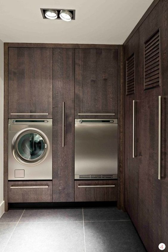 Eye Candy: 11 Incredible Laundry Rooms that are sure to inspire you. Modern, traditional, and transitional/contemporary styles. Mudroom organization ideas too!