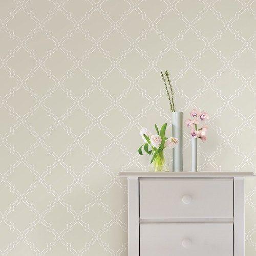 Taupe Quatrefoil Peel And Stick Wallpaper Brewster Nuwallpaper 54 99 Trellis Geomet Quatrefoil Wallpaper Peel And Stick Wallpaper Peel Off Wallpaper
