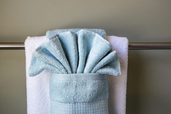 How To Hang Bathroom Towels Decoratively | Bathroom Towels, Manners And  Towels