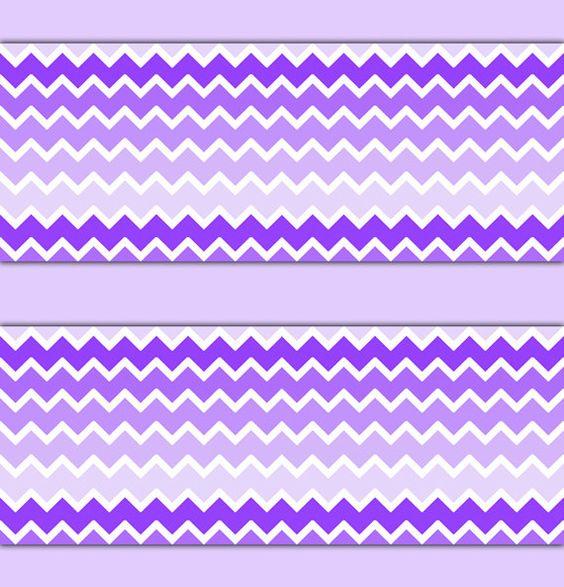 purple ombre chevron wallpaper border wall decal baby girl