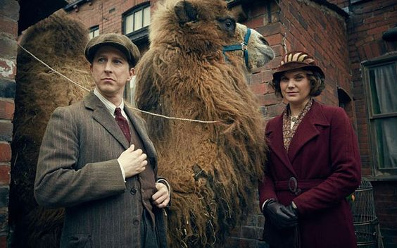 "Sydney the Bactrian Camel with George Mottershead and Lizzie Mottershead in ""Our Zoo"", 2014."