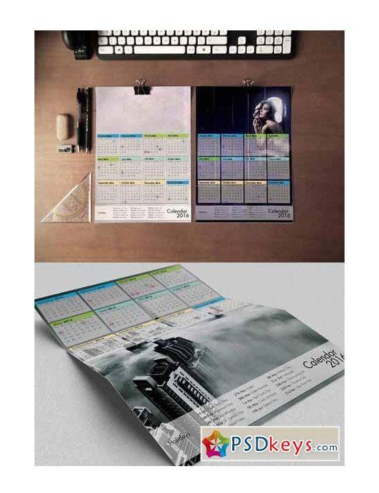 Free 2016 Calendar Design Templates