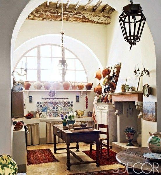 The Bohemian Kitchen Boho Kitchen From Elle Decor Interiors Pinterest