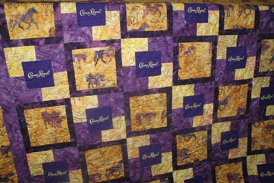 Crown Royal Quilt Quilting Pinterest Quilt Crown