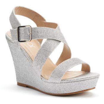 sugar Cadie Women's Banded Platform Wedge Heels
