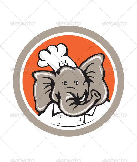Realistic Graphic DOWNLOAD (.ai, .psd) :: http://jquery.re/pinterest-itmid-1007941727i.html ... Elephant Chef Head Cartoon ...  African elephant, animal, artwork, baker, cartoon, chef, circle, cook, elephant, graphics, head, illustration, isolated, pachyderm, trunk, wildlife  ... Realistic Photo Graphic Print Obejct Business Web Elements Illustration Design Templates ... DOWNLOAD :: http://jquery.re/pinterest-itmid-1007941727i.html