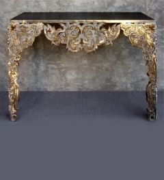 Designer limited edition stainless steel console
